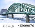 冬の旭橋 46909070