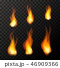 火 ほのお 炎のイラスト 46909366