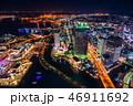 横浜 夜景 夜の写真 46911692
