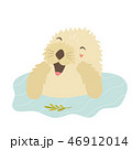 Funny otter taking shower sitting in a river 46912014