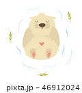 Cute funny otter floating in a river 46912024