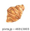 クロワッサン 食 料理のイラスト 46913803