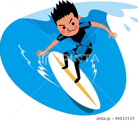 サーフィンをする男性 46915535