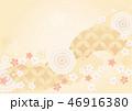 背景素材 和柄 花のイラスト 46916380