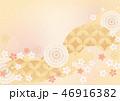 背景素材 和柄 花のイラスト 46916382