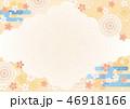背景素材 和柄 桜のイラスト 46918166