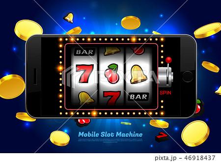 lucky slot machine casino on mobile phone 46918437