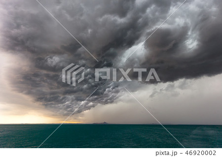 Dramatic sky of a storm approaching fast, Italy. 46920002