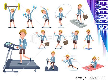 flat type Jacket Short pants men_exercise 46920577