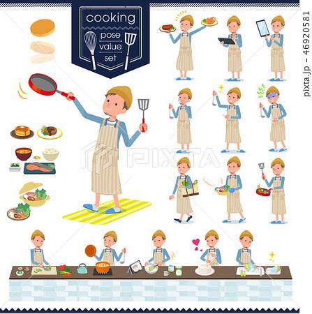 flat type Jacket Short pants men_cooking 46920581