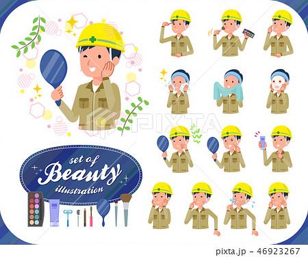 flat type helmet worker men_beauty 46923267