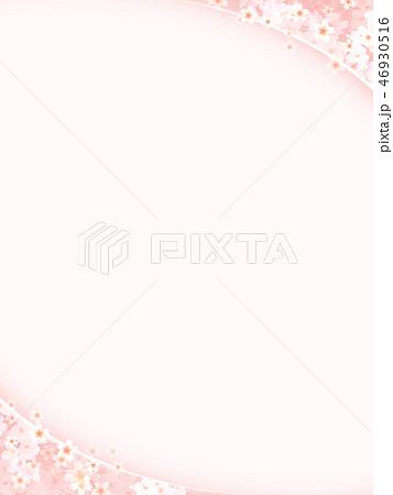 和-和風-和柄-背景-和紙-春-桜-ピンク 46930516