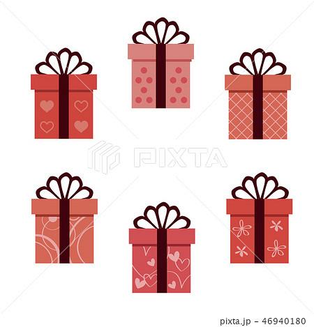 バレンタイン 細い5つ結びのリボン6種の箱  46940180
