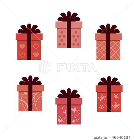 バレンタイン 太い5つ結びのリボン6種の箱 46940184
