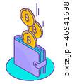 ビットコイン お財布 サイフのイラスト 46941698