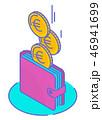 お金 通貨 金のイラスト 46941699