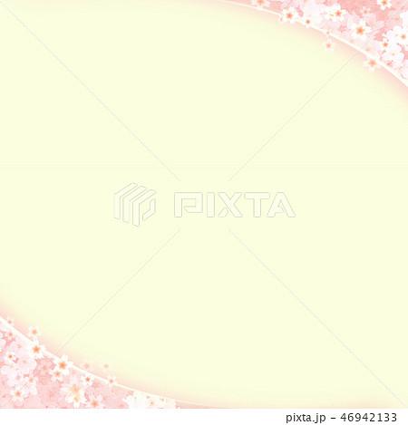 和-和風-和柄-背景-和紙-春-桜-ピンク-グリーン 46942133
