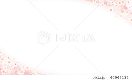 和-和風-和柄-背景-和紙-春-桜-白 46942155