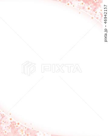 和-和風-和柄-背景-和紙-春-桜-白 46942157