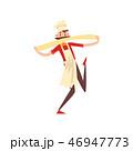 ピザ ピッツァ 料理のイラスト 46947773