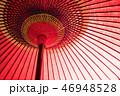 傘 雨傘 赤いの写真 46948528