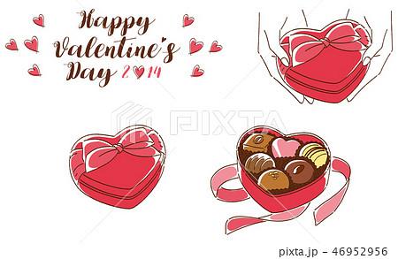 バレンタインデー チョコレート ハート 46952956