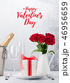 Valentine's day greeting card with roses 46956659