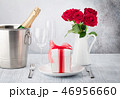 Valentine's day greeting card with roses 46956660