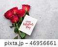 Valentine's day greeting card with roses 46956661