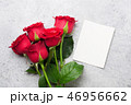 Valentine's day greeting card with roses 46956662