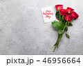Valentine's day greeting card with roses 46956664