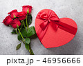 Valentine's day greeting card with roses 46956666