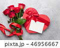 Valentine's day greeting card with roses 46956667