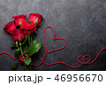 Valentine's day greeting card with roses 46956670