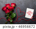 Valentine's day greeting card with roses 46956672