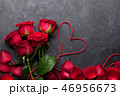 Valentine's day greeting card with roses 46956673