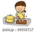 ベクター 家事 料理のイラスト 46958717