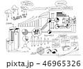 スケッチ 図案 ビジネスのイラスト 46965326