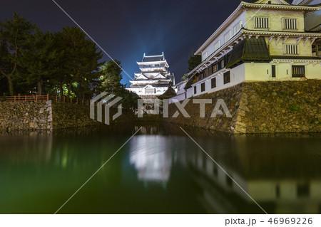 Kokura Castke at night in Fukuoka, Japan 46969226