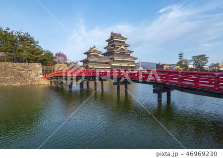 Matsumoto Castle at sunset in Nagano, Japan 46969230