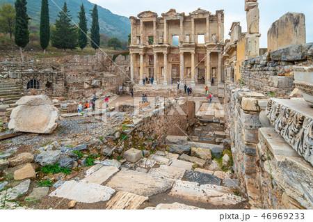 The Library of Celsus in Ephesus in Izmir, Turkey 46969233