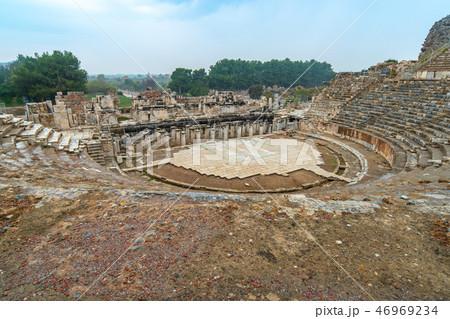 Ephesus amphitheatre in Selcuk, Izmir Turkey 46969234