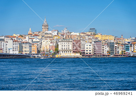 Istanbul cityscape with Galata Tower in Turkey 46969241
