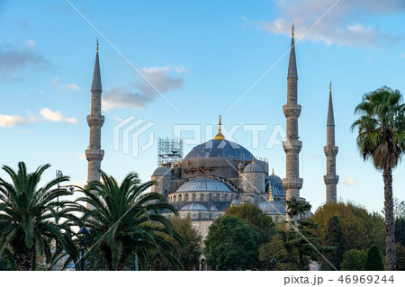 Istanbul blue mosque in Istanbul, Turkey 46969244