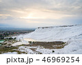 Sunset at Pamukkale cotton castle in Turkey 46969254