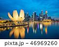 Singapore skyline with landmark buildings at night 46969260