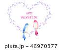 ハート 小鳥 バレンタインのイラスト 46970377