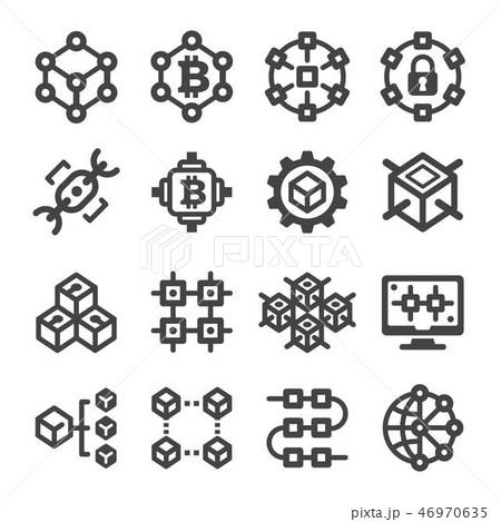 blockchain icon 46970635
