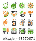 melon,cantaloupe icon set 46970671