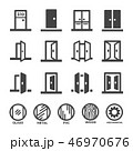 door icon set 46970676